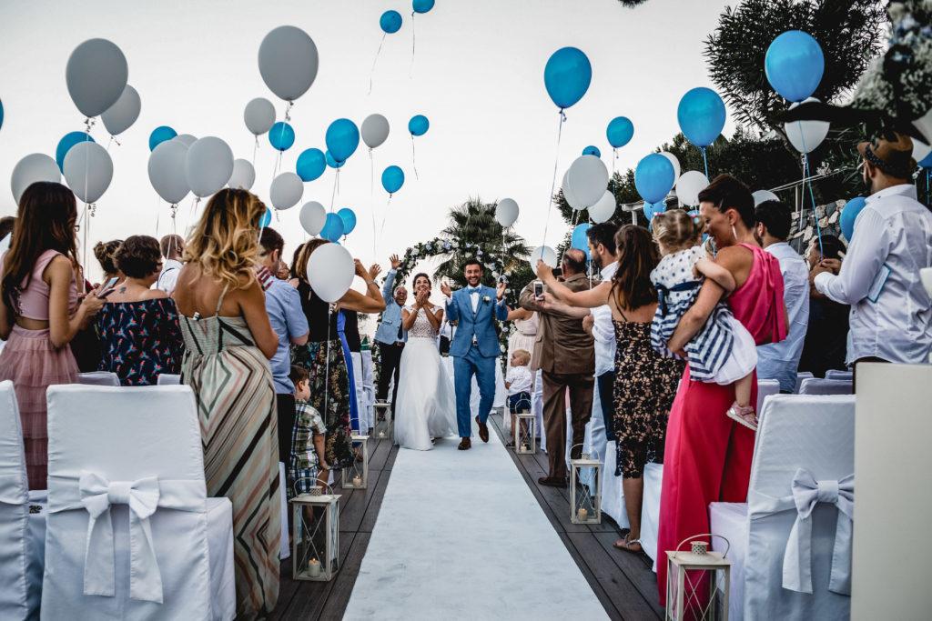 Wedding Exit italienische Traumhochzeit Freie Trauung am Strand